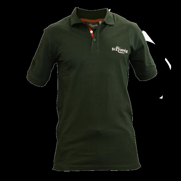 St. Hippolyt Polo Shirt Herren Gr. L grün